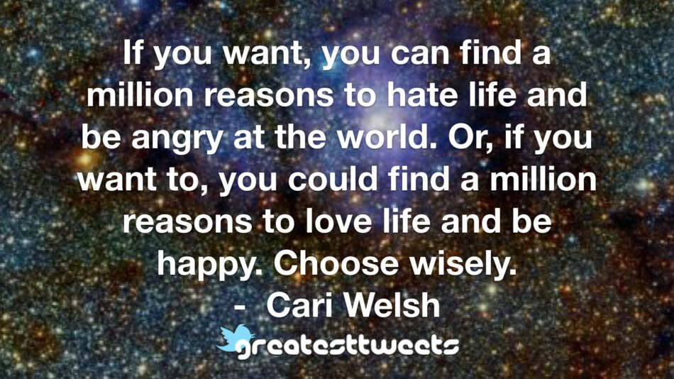 Cari Welsh Quotes | GreatestTweets.com
